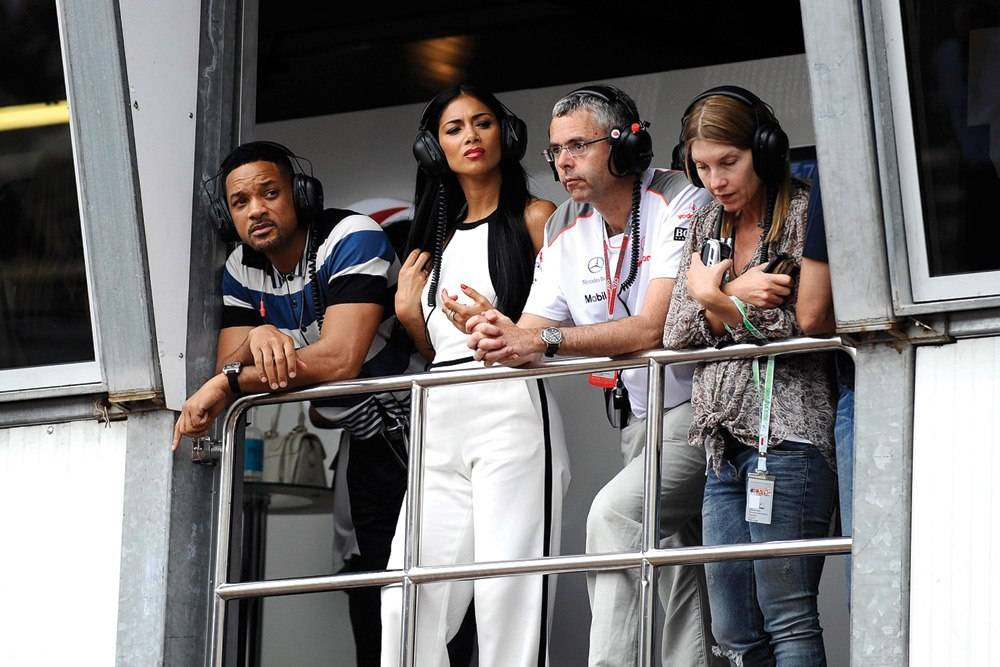 Will Smith and Nicole Scherzinger take in the Grand Prix in Monaco.