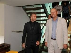 David Beckham Visits Breitling Boutique In Celebration of NYFW