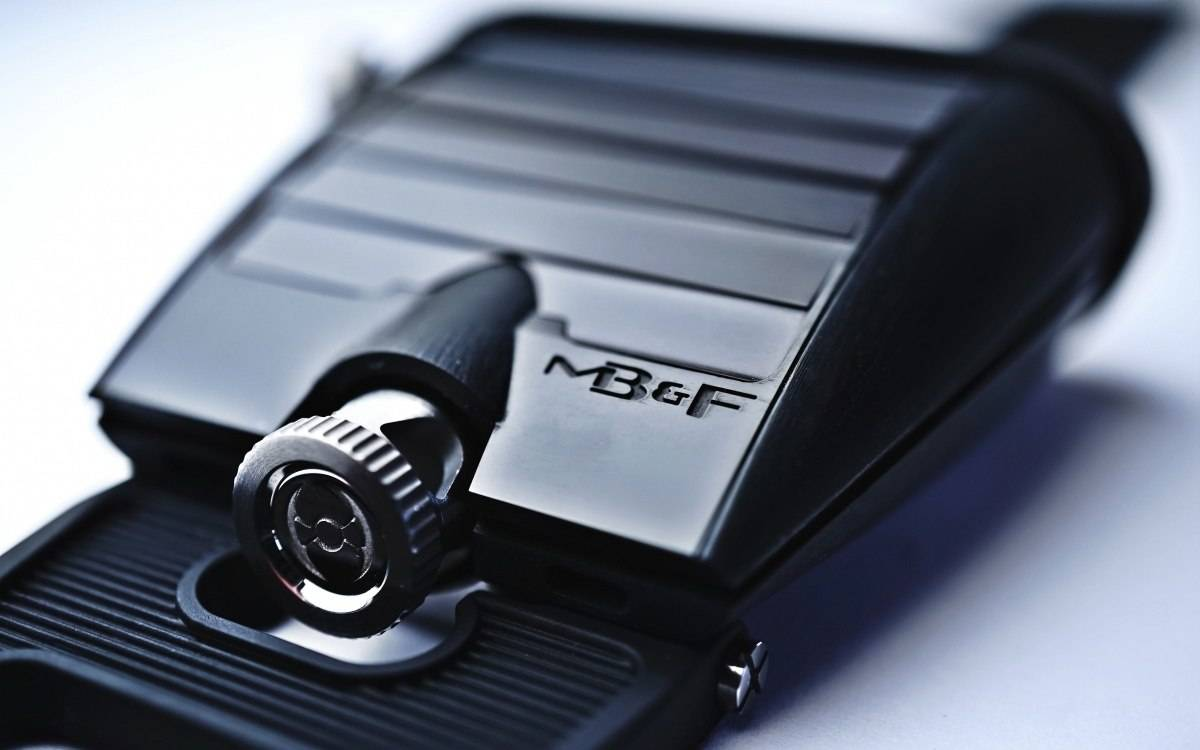 The new MB&F HM5 CarbonMacrolon watch