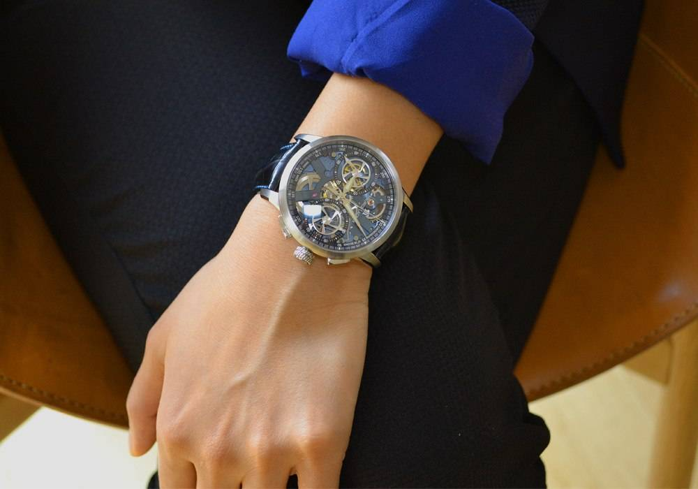 Worn By Women:  Maurice Lacroix The Masterpiece Le Chronographe Squelette
