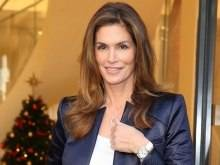 Cindy Crawford Wearing An Omega De Ville Butterfly