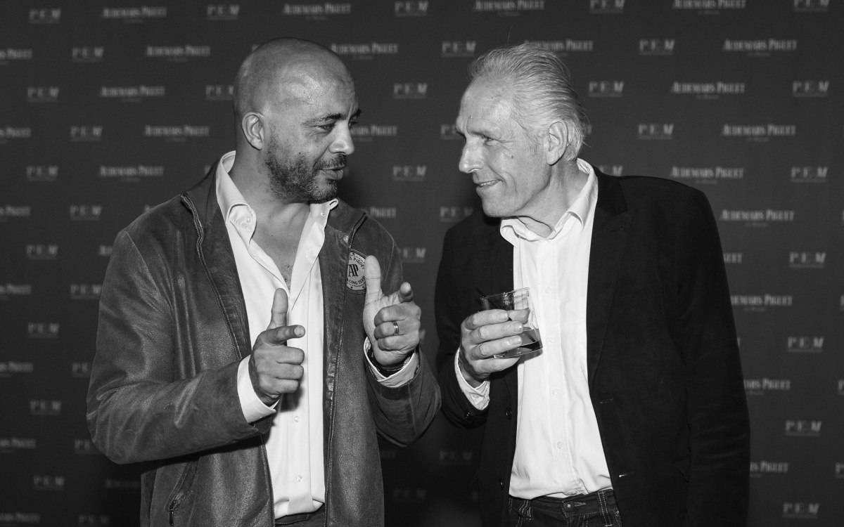Olivier Audemars and Theo Jansen at Art Basel Miami Party