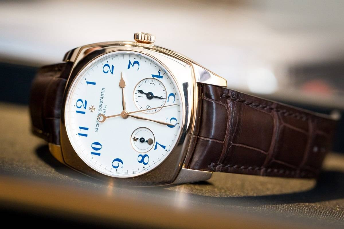 Vacheron Constantin Harmony Dual Time watch in pink gold