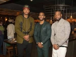 Carmelo Anthony, Dwyane Wade and Chris Paul Host All-Star Dinner