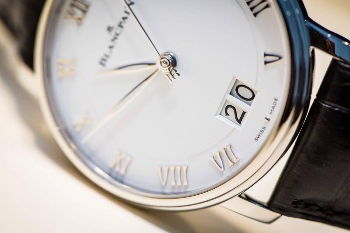 Blancpain Villeret Grande Date Close Up