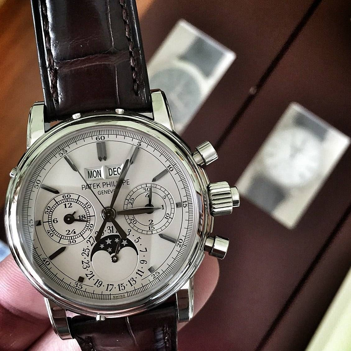 Patek Philippe Ref 5004 Split-Seconds Perpetual Calendar Steel Watch Live