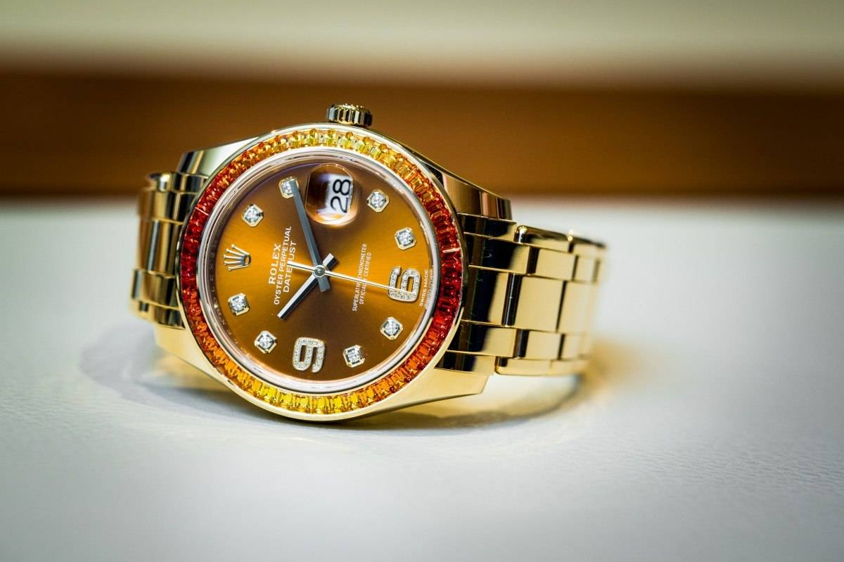 Rolex Datejust Pearlmaster 39 Watch baselworld 2015 orange
