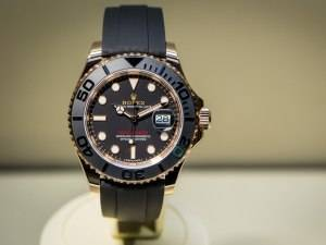 Rolex Yacht-Master 116655 Watch In Everose Gold With Black Ceramic Bezel