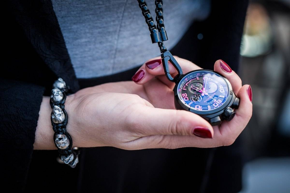 Bomberg Bolt-68 Neon Pocket Watch Baselworld 2015