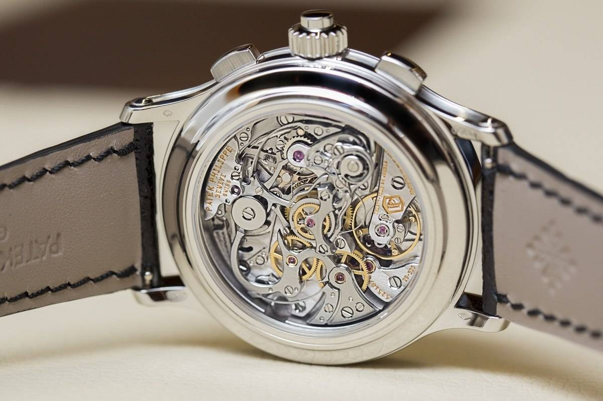 Patek Philippe Ref 5370 Split-seconds Chronograph Watch Baselworld 2015 Back