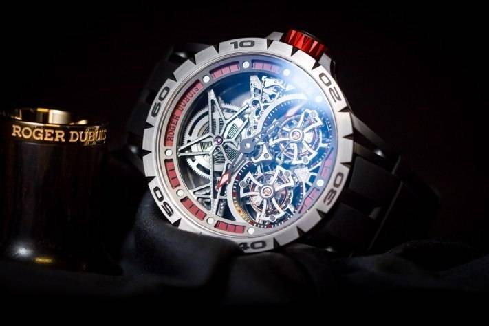 Replica Roger Dubuis Excalibur Spider Skeleton Double Flying Tourbillon;