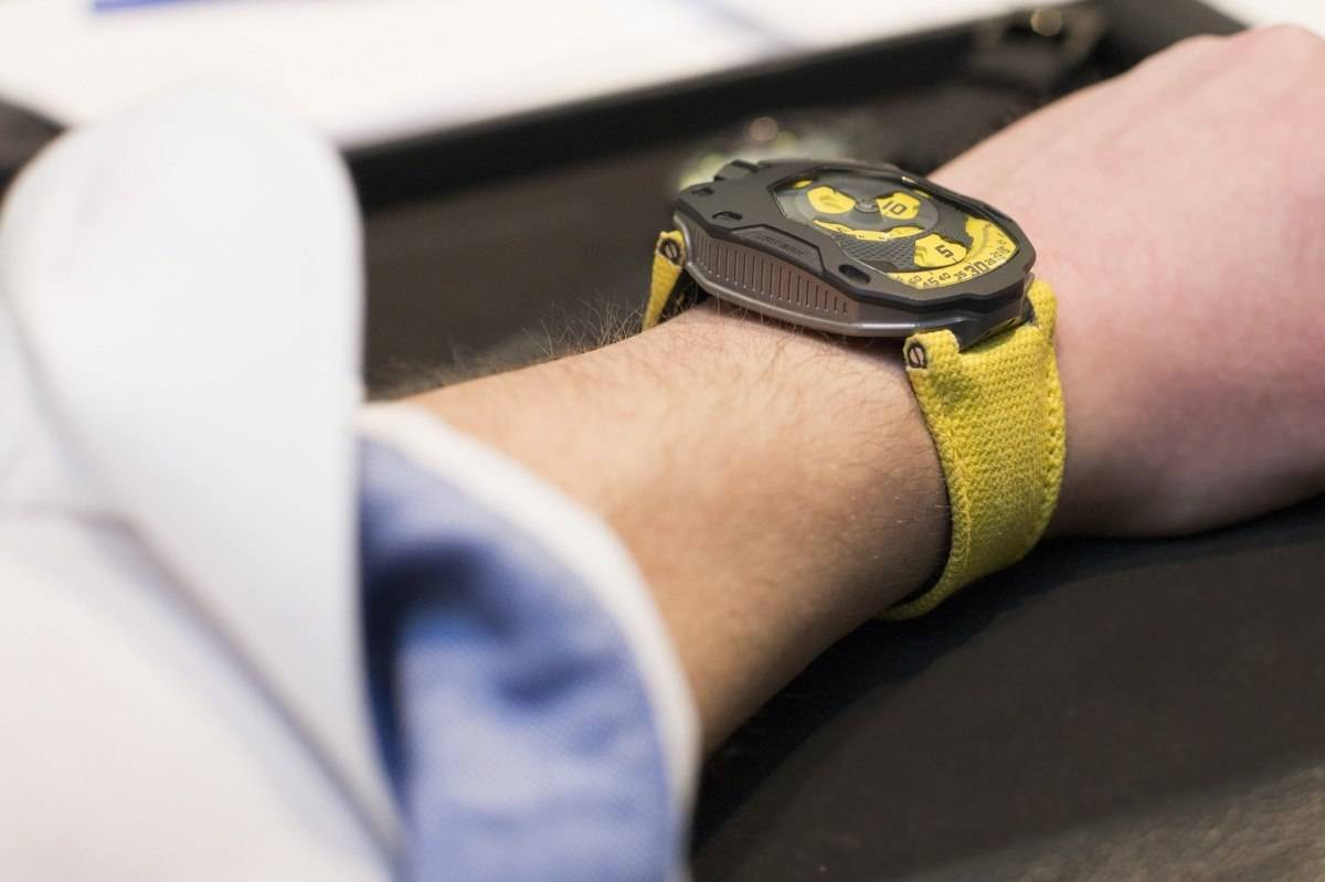 Urwerk UR-105 TA Black Lemon Watch 2015 Wrist
