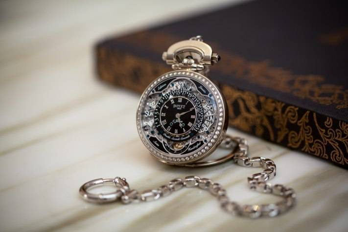 Bovet Virtuoso VII Retrograde Perpetual Calendar Pocket Watch 2015