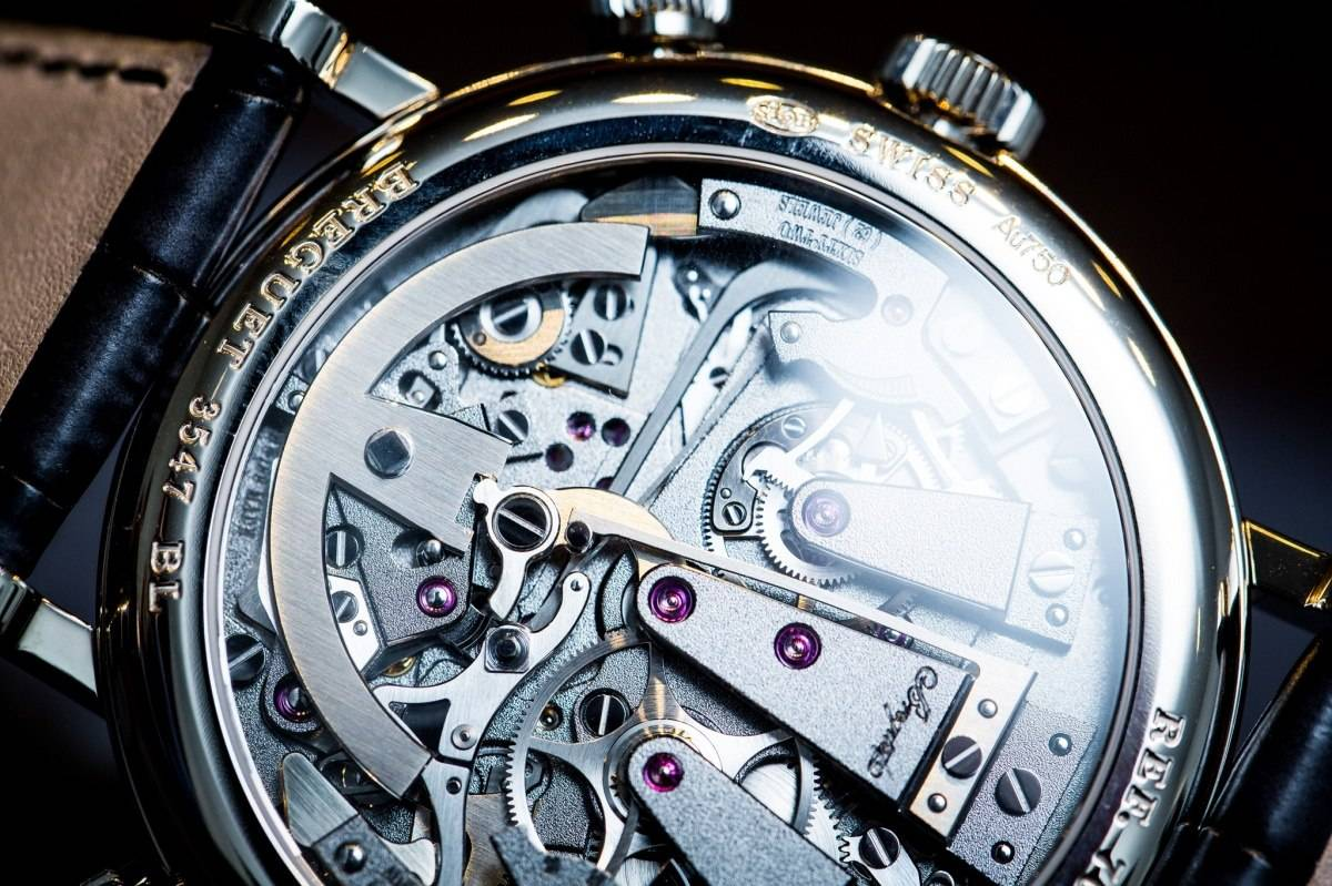 Breguet 7077 La Tradition Chronograph Indépendant Watch Baselworld 2015 Back Close Up
