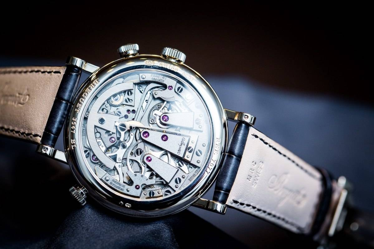 Breguet 7077 La Tradition Chronograph Indépendant Watch Baselworld 2015 Back
