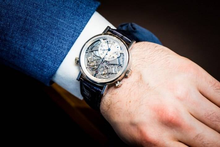 Breguet 7077 La Tradition Chronograph Indépendant Watch Baselworld 2015 Wrist