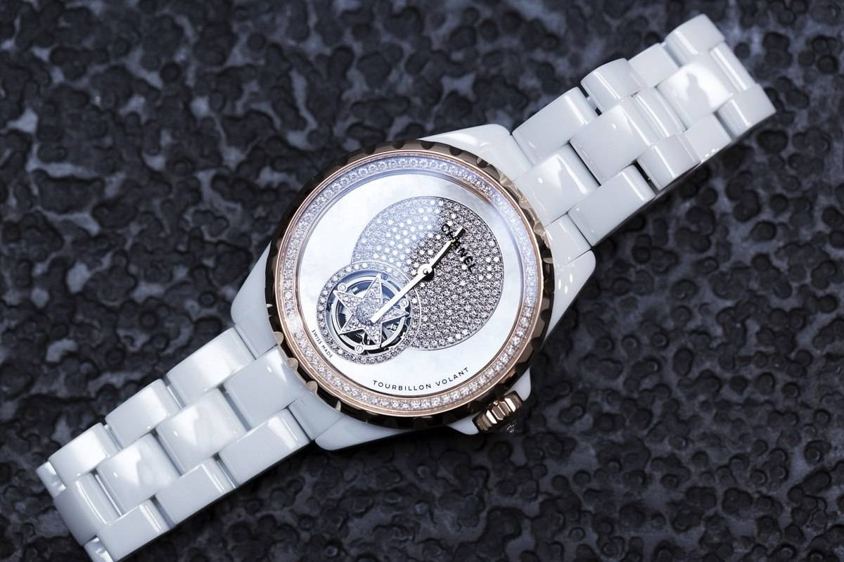 Chanel J12 Flying Tourbillon White Watch Baselworld 2015 front