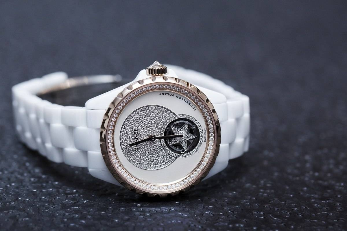 Chanel J12 Flying Tourbillon White Watch Baselworld 2015 side