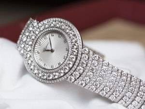 Chopard L'Heure du Diamant Pavé White Gold Watch Baselworld 2015 Bracelet