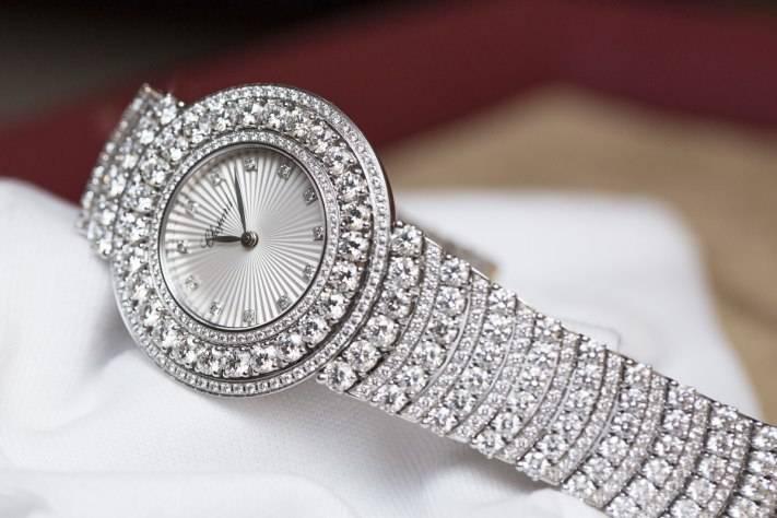 Chopard L'Heure du Diamant Pavé White Gold Watch Baselworld 2015 Bracelet