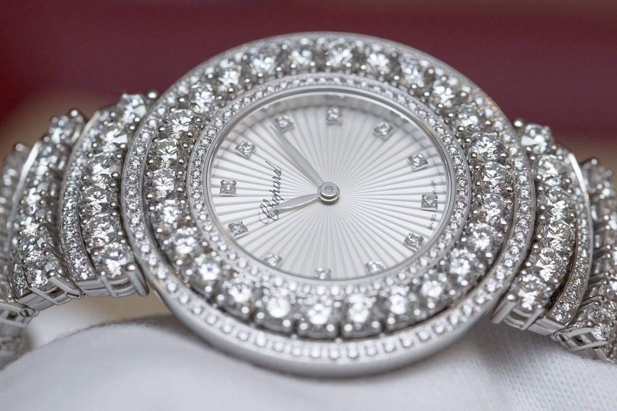 Chopard L'Heure du Diamant Pavé White Gold Watch Baselworld 2015 Dial