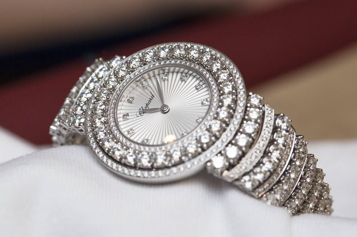 Chopard L'Heure du Diamant Pavé White Gold Watch Baselworld 2015