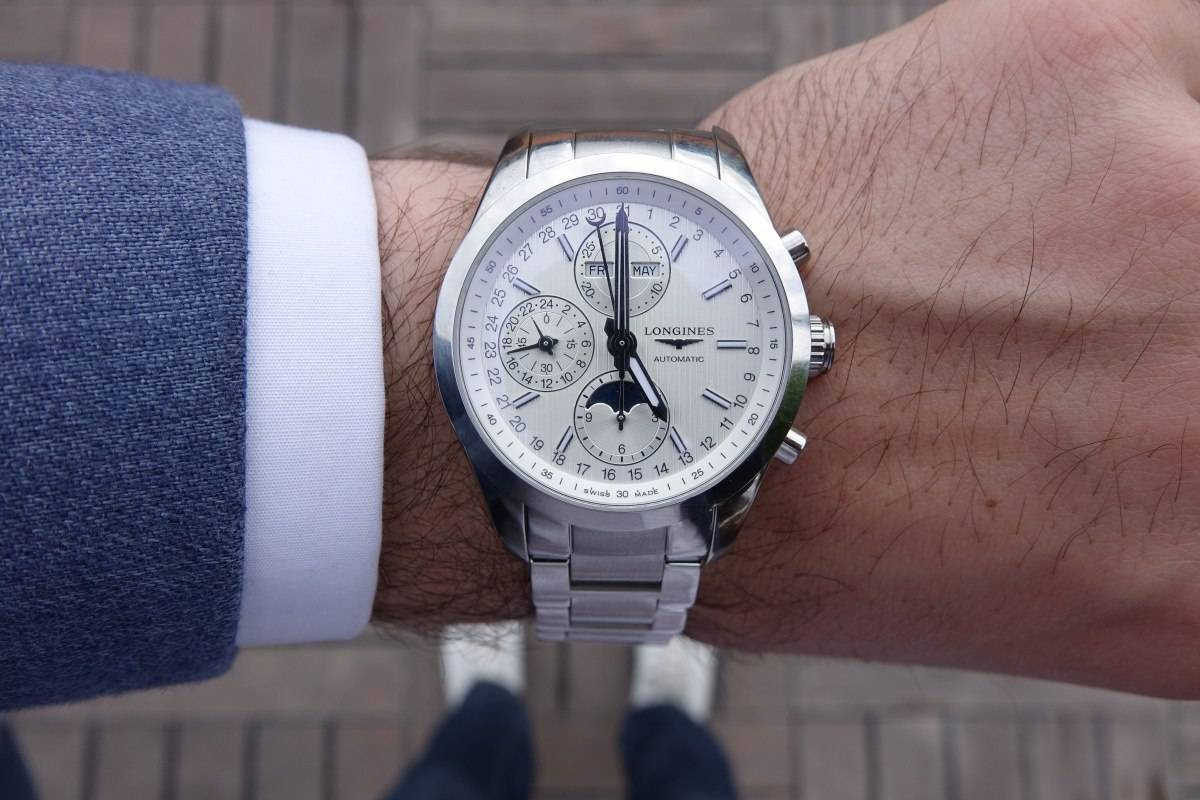 Longines Conquest Classic Moonphase Watch 2015 wristshot