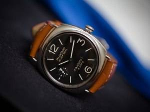 Officine Panerai Radiomir Black Seal 8 Days Acciaio PAM00609 Watch Front REAL