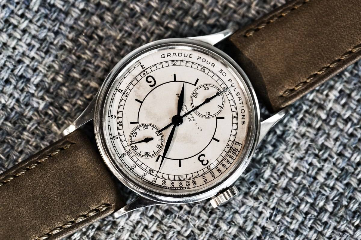 Patek Philippe Ref 130 The Doctor's Single Button Chronograph Watch Phillips Auction One