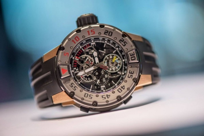 Richard Mille RM 025 Tourbillon Chronograph Diver Watch 2015