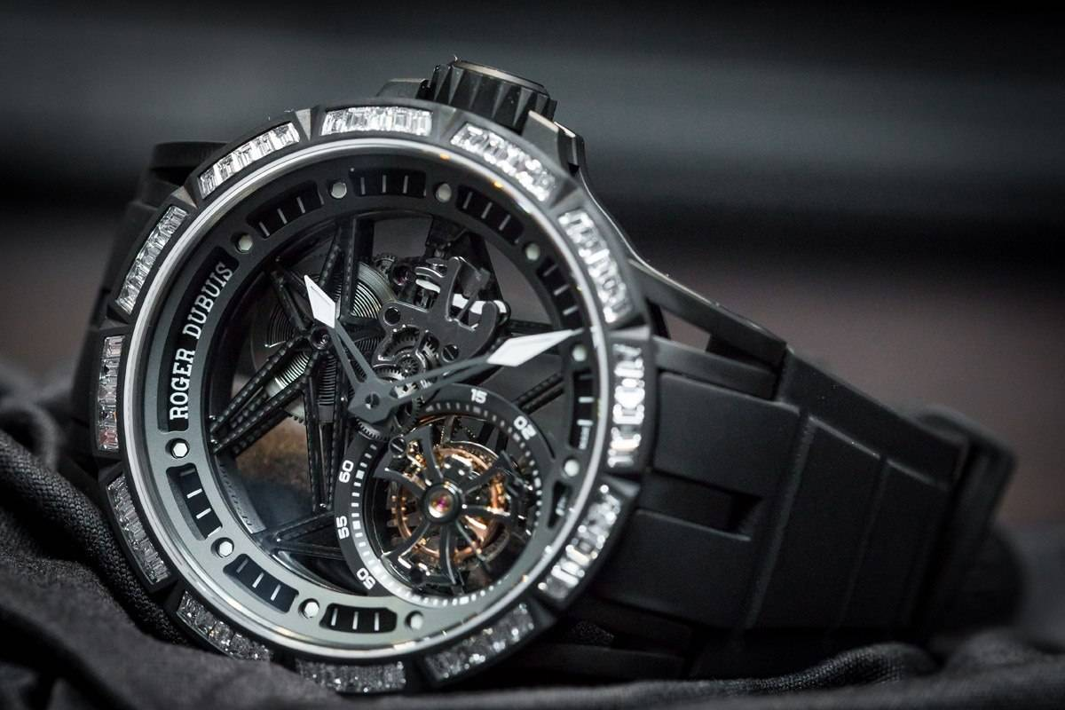 Roger Dubuis Excalibur Spider Skeleton Flying Tourbillon watch SIHH 2015 front