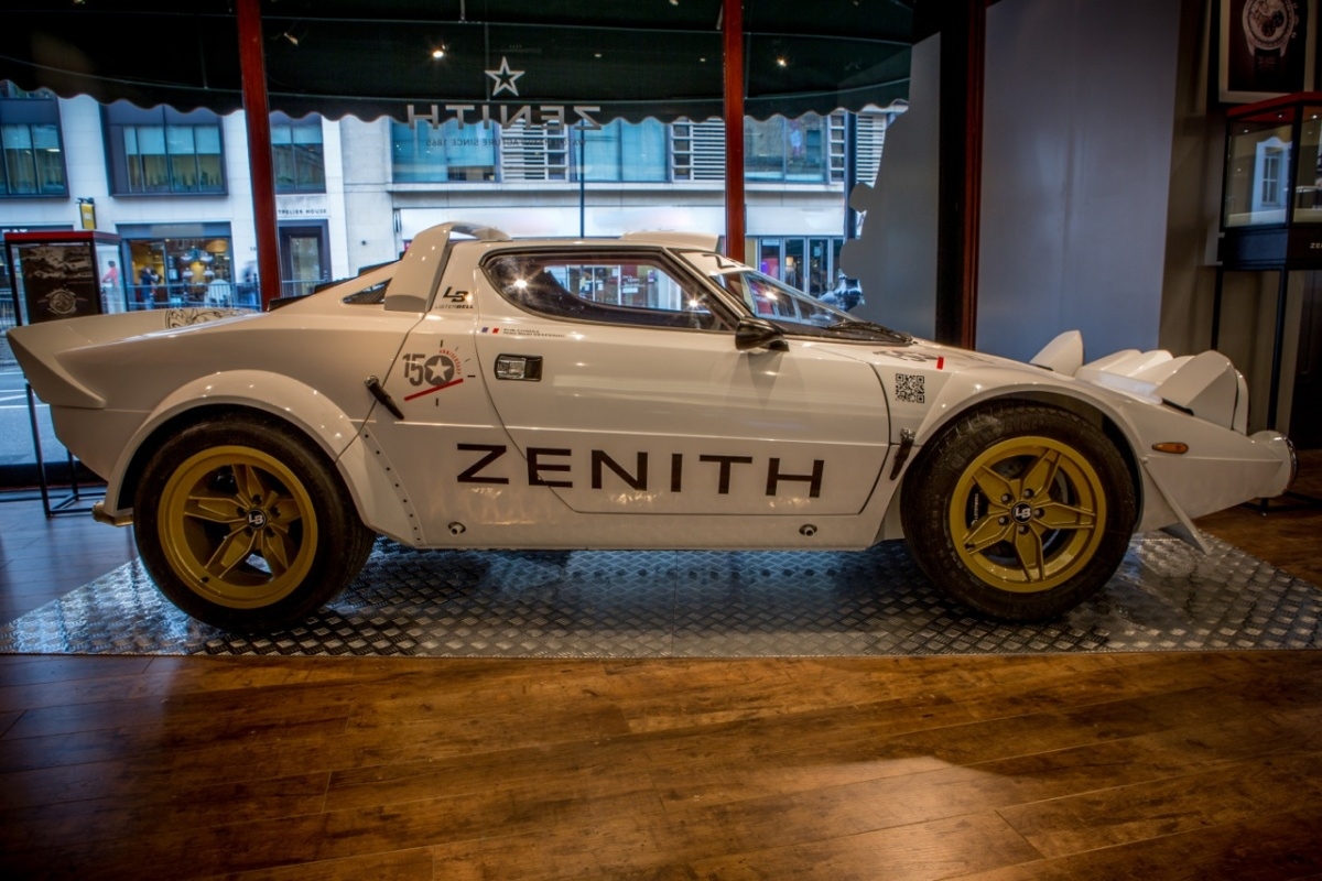 Zenith Harrods Exhibition May 2015 Lancia Stratos Tour 2015