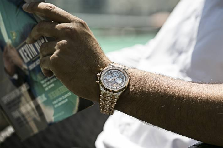 Ahmed Seddiqi & Sons Audemars Piguet Gold Diamonds Watch Dubai