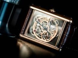 Cartier Tank Louis Cartier Skeleton Sapphire Watch SIHH 2015 Front