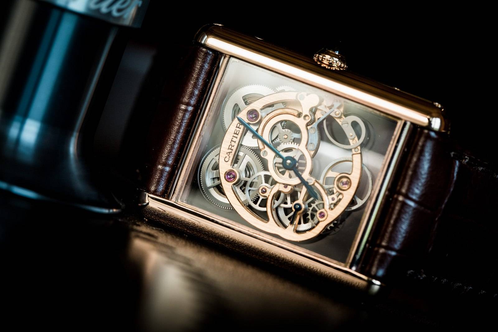 Cartier Tank Louis Cartier Skeleton Sapphire Watch SIHH 2015 Front