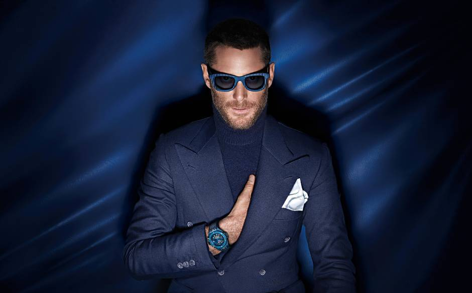 Lapo Elkann in the Hublot Big Bang UNICO Italia Independent advertising campaign