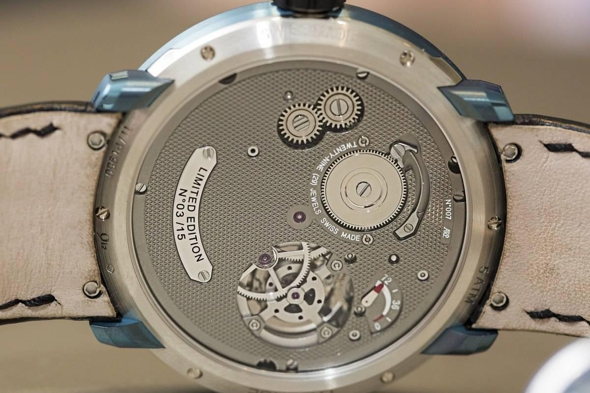 Fabergé Visionnaire I tourbillon watch in platinum baselworld 2015 back