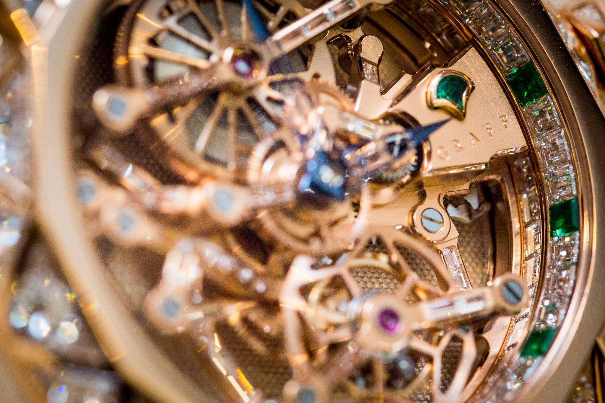 Graff Diamond MasterGraff Structural Tourbillon Skeleton Watch 2015 Bezel