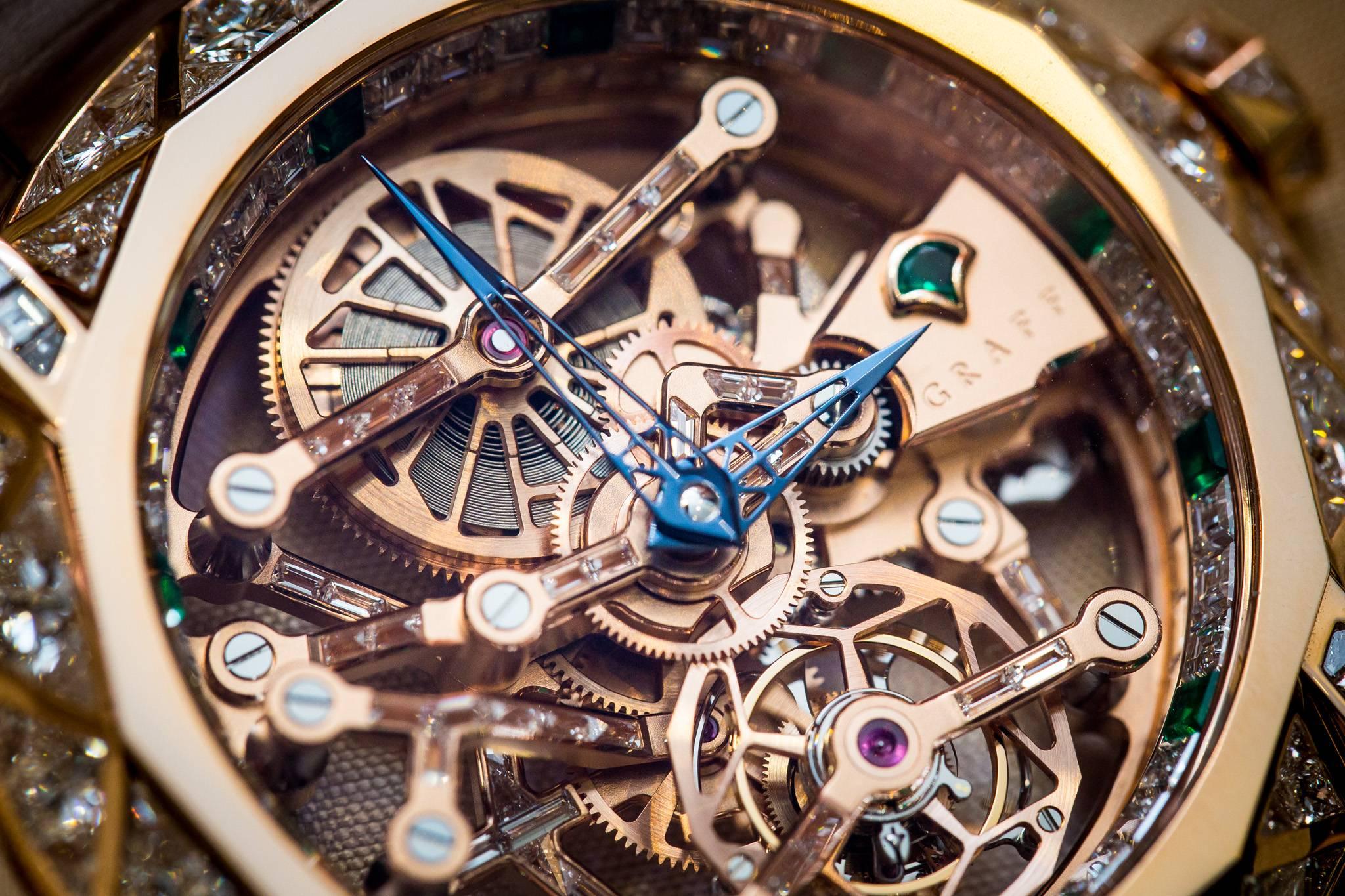 Graff Diamond MasterGraff Structural Tourbillon Skeleton Watch 2015 Close Up
