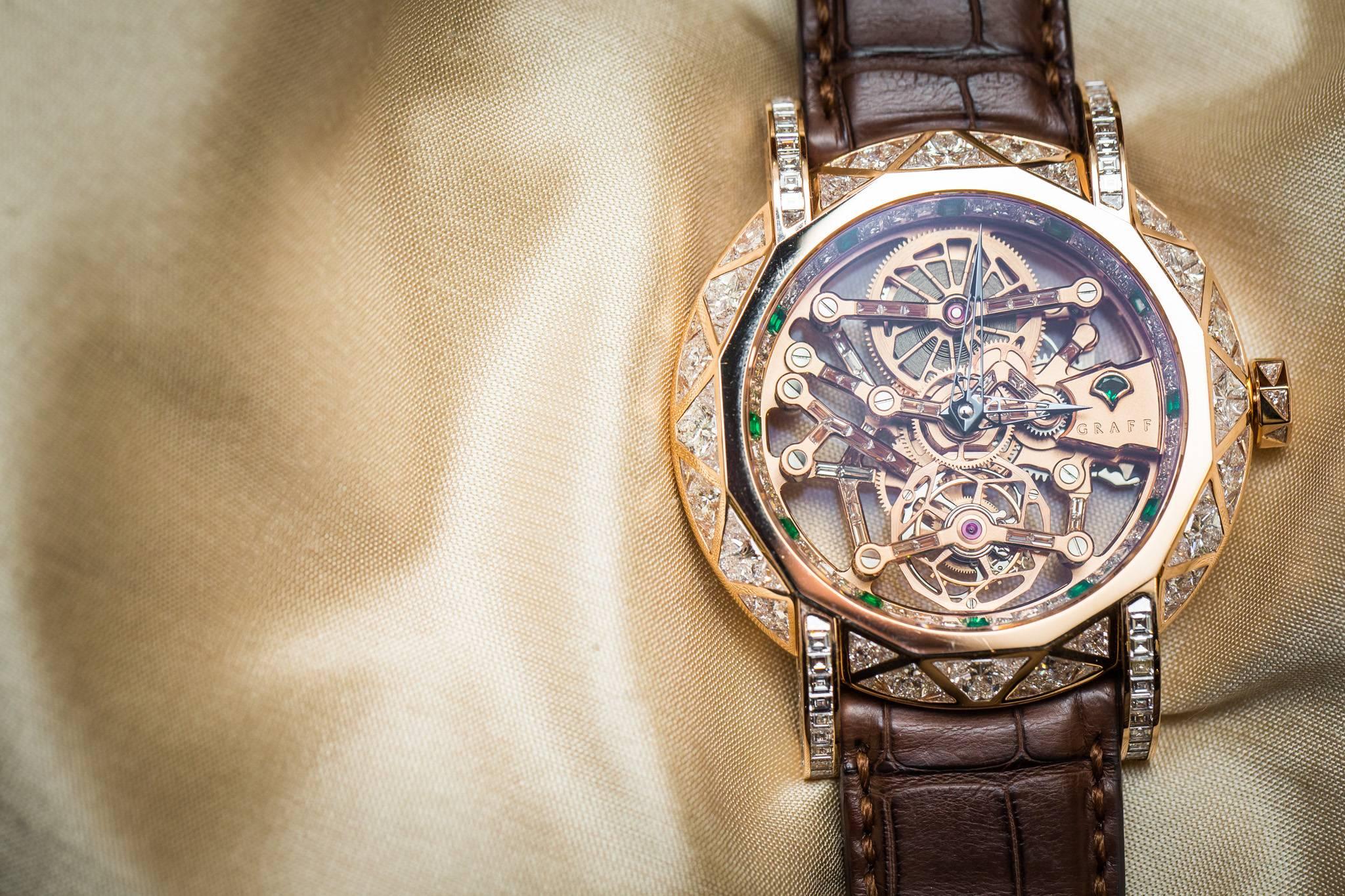 Graff Diamond MasterGraff Structural Tourbillon Skeleton Watch 2015 Front