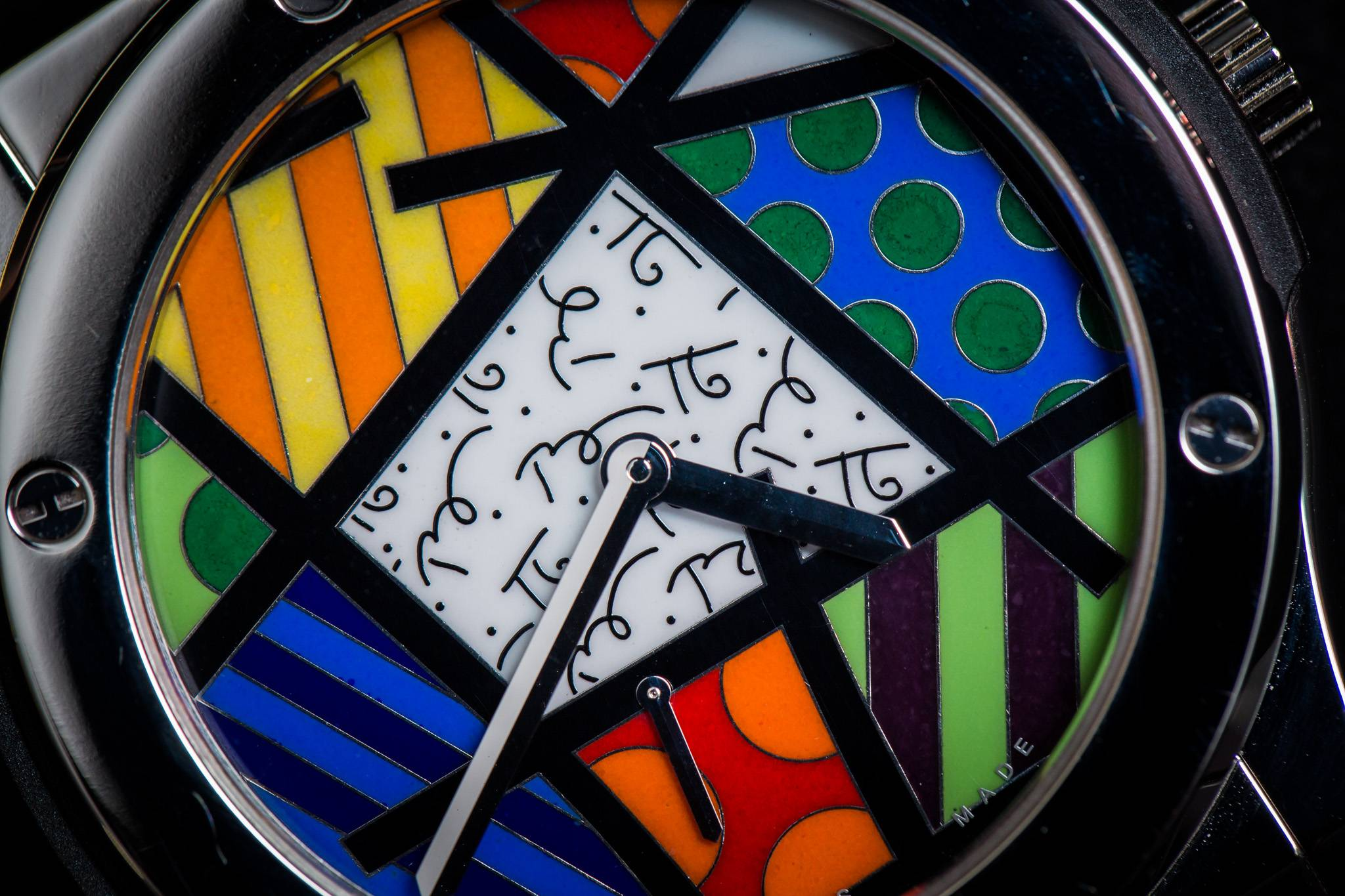 Hublot Classic Fusion Enamel Britto Watch Art Close up