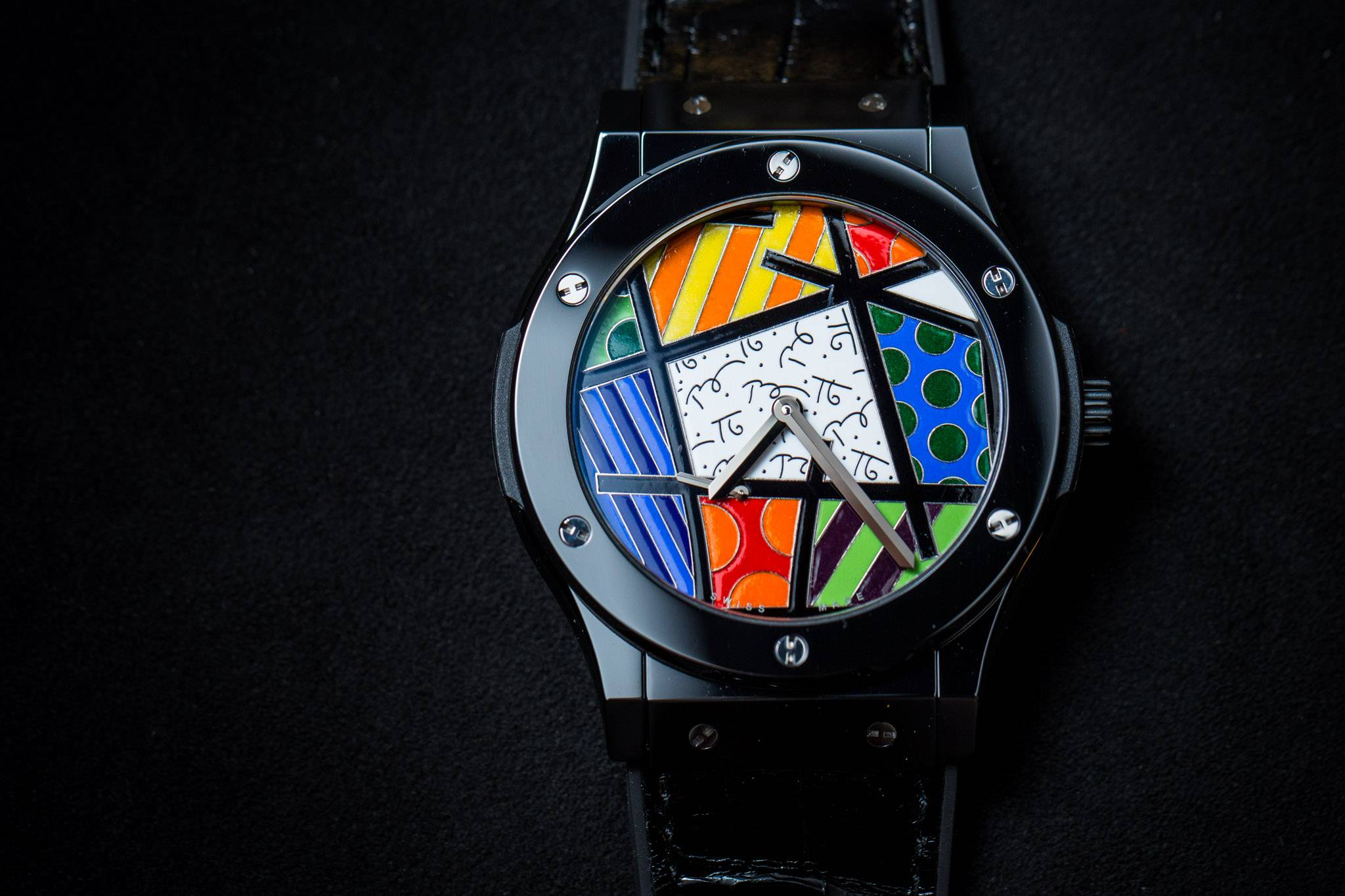 Hublot Classic Fusion Enamel Britto Watch in ceramic