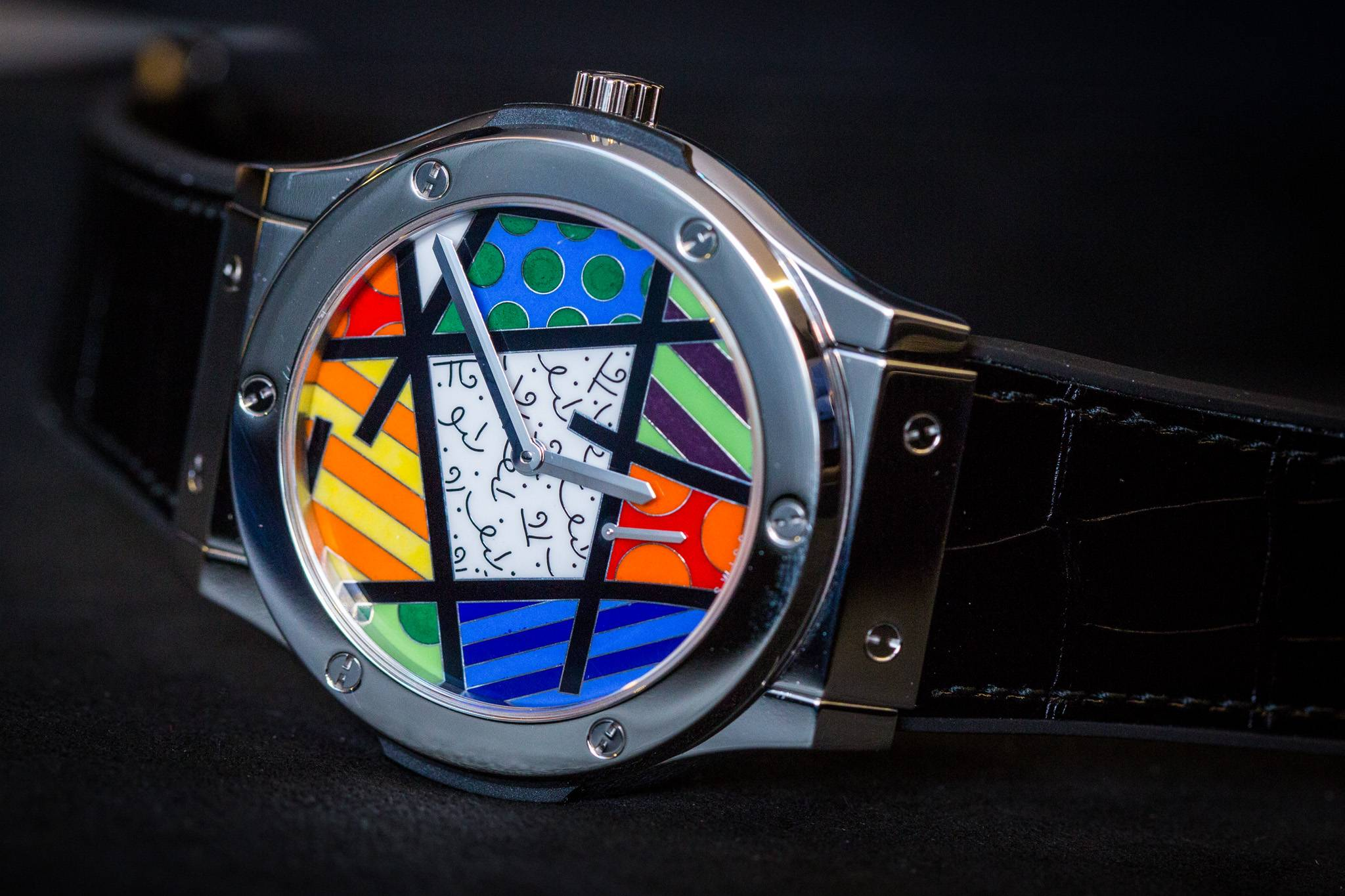 Hublot Classic Fusion Enamel Britto Watch in platinum