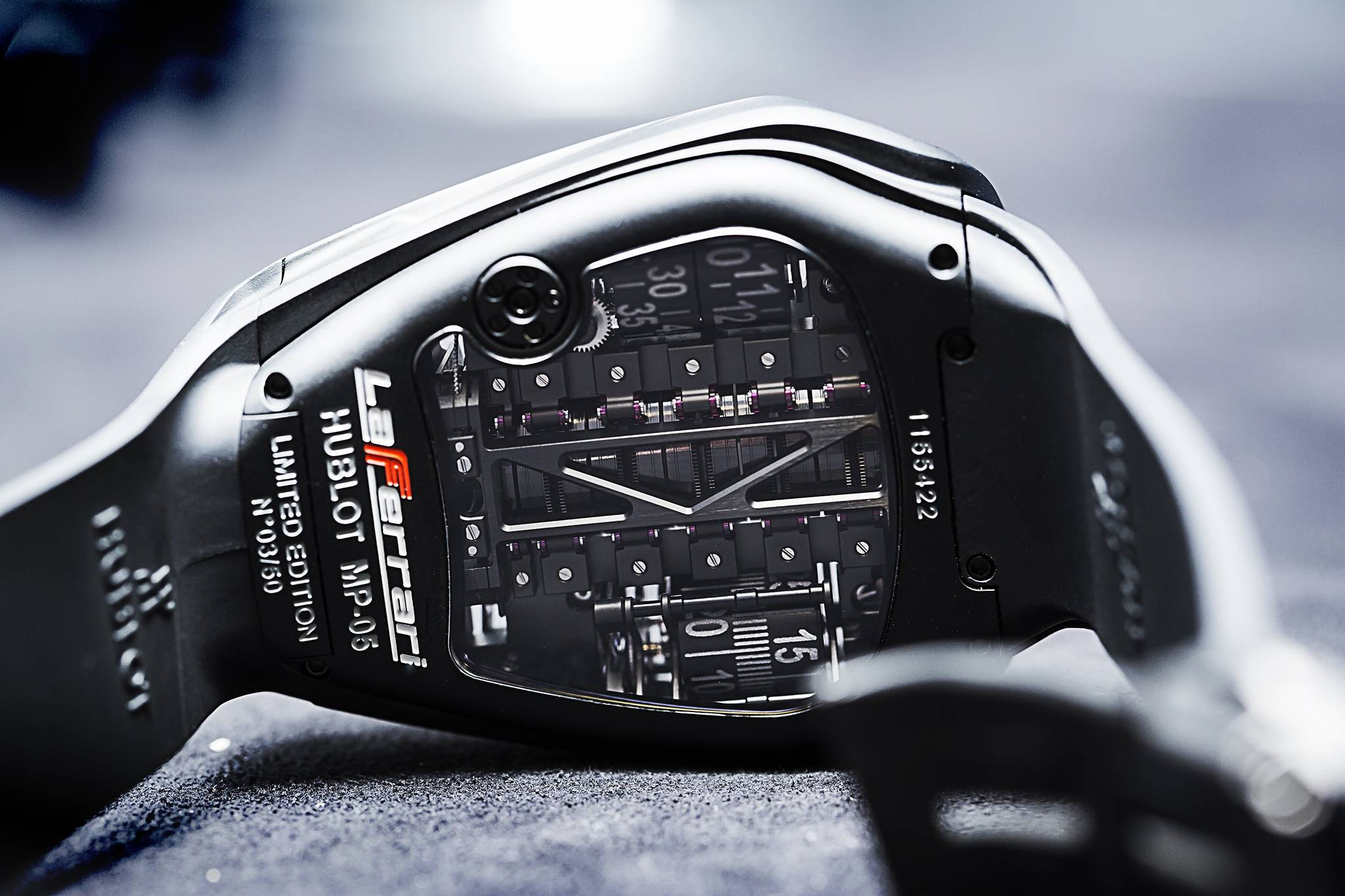 Hublot MP-05 LaFerrari Full Black Watch 2015 Back