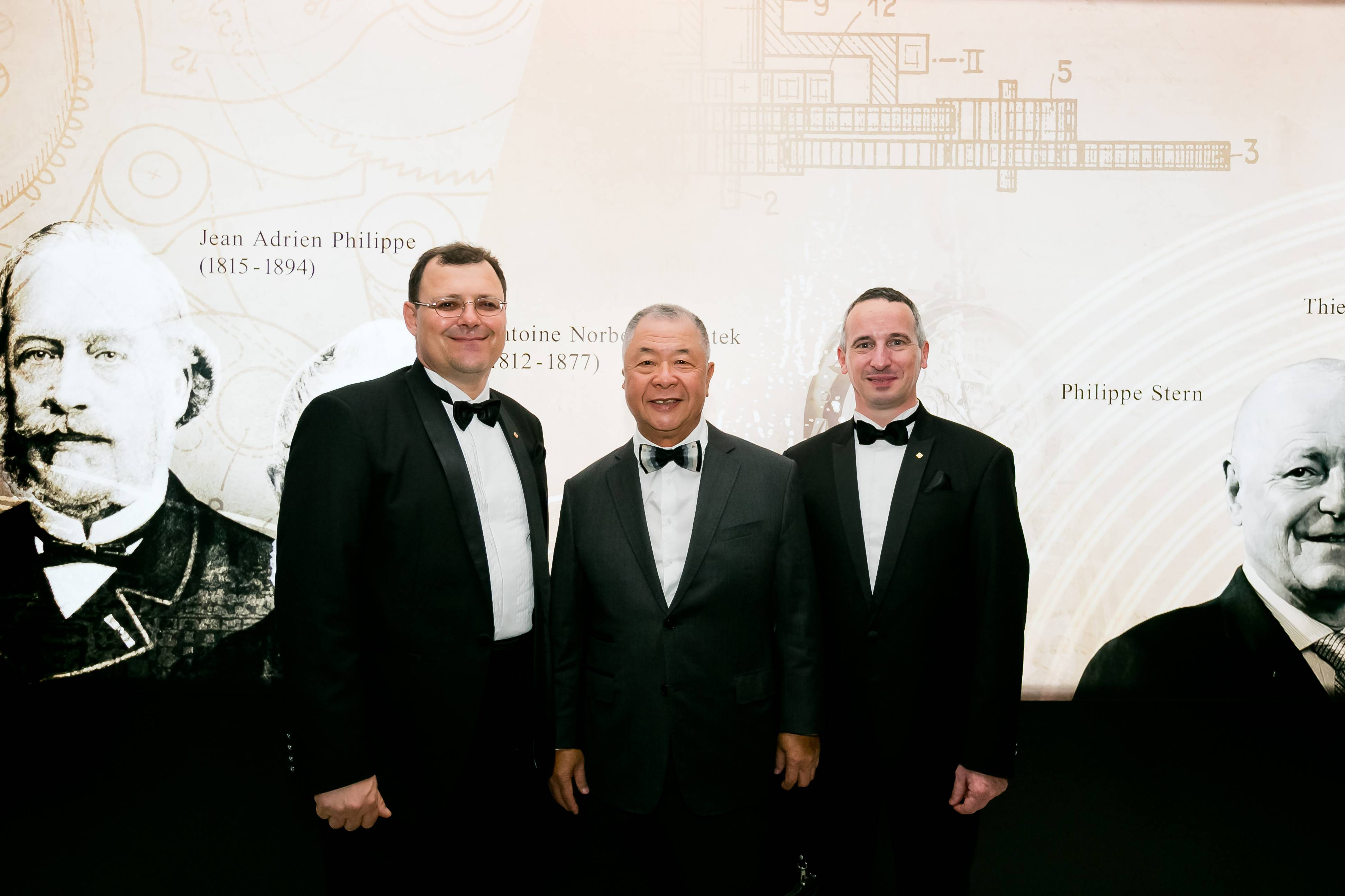 (Left to Right) Mr Thierry Stern, Dr Henry Tay, Mr Jerome Pernici