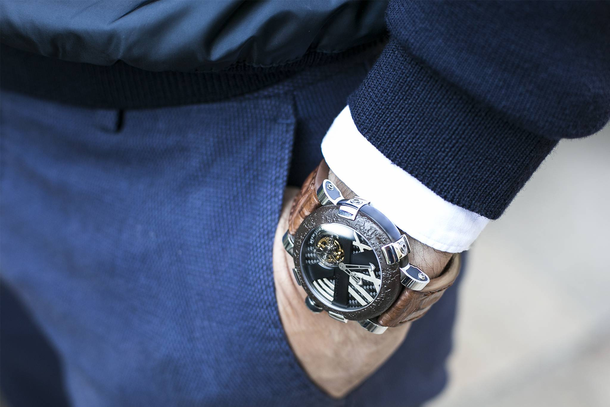 Santa Laura Watch Collector Interview Romain Jerome Wrist Shot Two