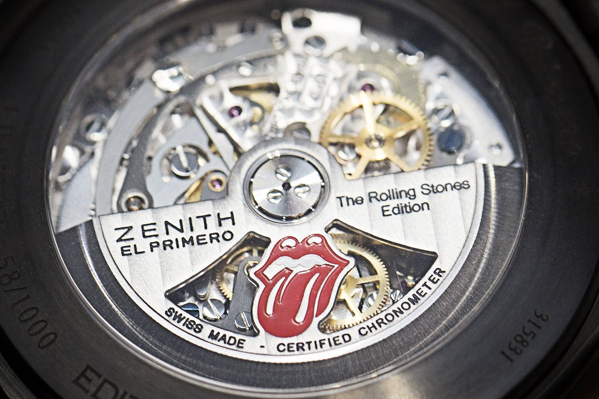 Zenith El Primero Chronomaster 1969 Tribute To The Rolling Stones Watch 2015 Movement