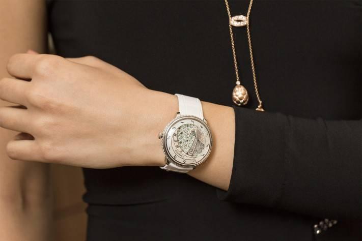 Fabergé Lady Compliquée Peacock Watch 2015 Wrist