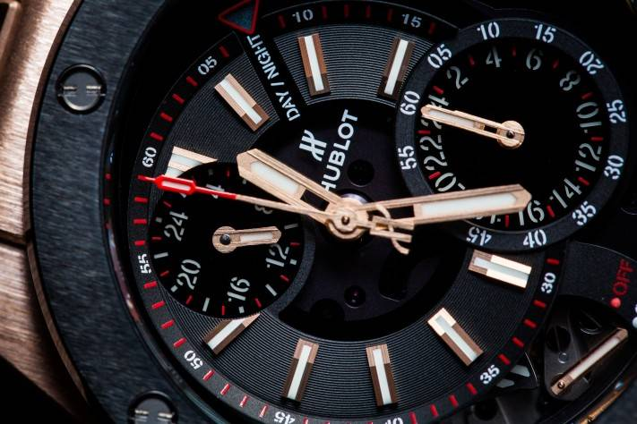 Hublot Big Bang Alarm Repeater Watch in King Gold Close Up-2
