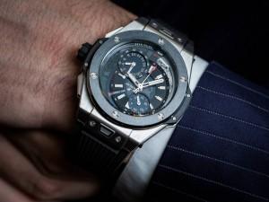 Hublot Big Bang Alarm Repeater Watch in Titanium Wrist
